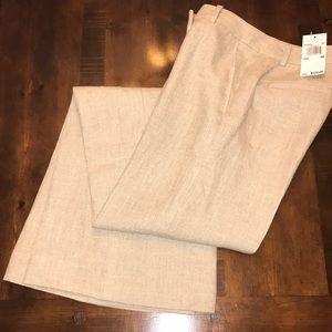 NWT Michael Kors tan linen pants